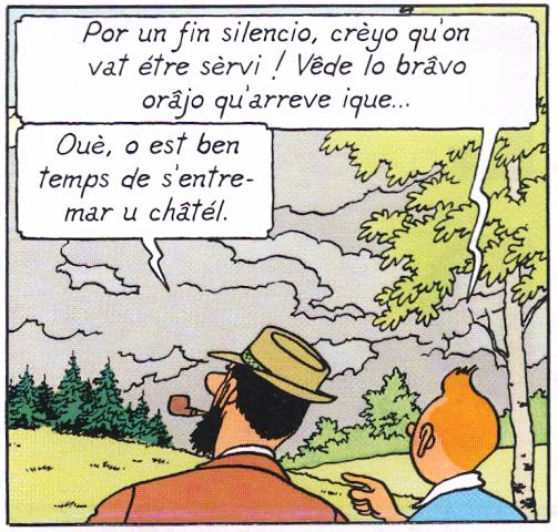 Tintin en arpitan: L'afére Pecârd